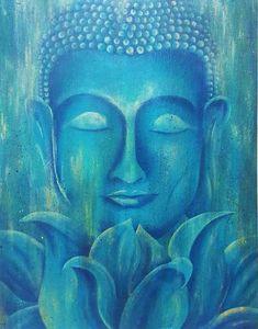 Pichwai Paintings, Original Paintings, Lotus Flower Pictures, Lotus Flowers, Buda Painting, Pintura Zen, Buddha Zen, Buddha Face, Bild Gold