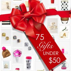 75 Gifts for Under $50! www.theperfectpalette.com - Affordable Gift Ideas!