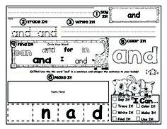 Free Kindergarten Sight Word Practice - Centers + Activiti