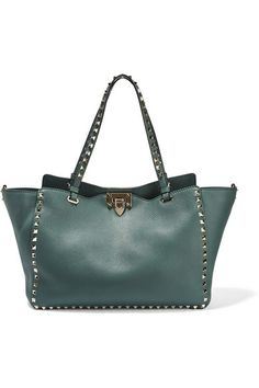7f7f461d2b Valentino - The Rockstud large textured-leather tote