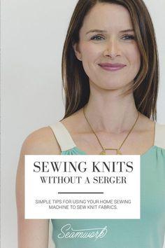Seamwork Magazine: Sewing Knits Without a Serger