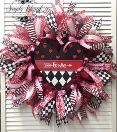 Spring and summer wreaths, garlands, and arrangements by SimplyblessdbyRamona Valentine Day Wreaths, Valentines Day Decorations, Valentine Heart, Easter Wreaths, Valentines Diy, Holiday Wreaths, Holiday Decorations, Wreaths For Sale, Wreaths For Front Door