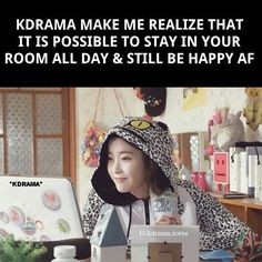 #Relate much? 🙋🏻 All I need are my #Kdramas, some snacks, and cozy clothes to be #happy #af in this world! 😝 #kdramaaddict #koreandrama #iu #prettyman #kdramameme #belamie #repost @kdrama.scene