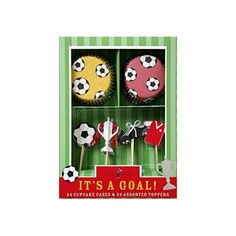 Luxe cupcakes set Voetbal