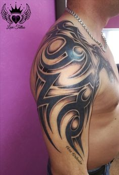 Tattoo Vera Kirilenko - tattoo's photo In the style Tribal, Male, Ornamen Indian Tribal Tattoos, Tribal Back Tattoos, Tribal Shoulder Tattoos, Mens Shoulder Tattoo, Celtic Tattoos For Men, Tattoos For Guys, Guy Tattoos, Turtle Tattoos, Tattoo Arm Designs