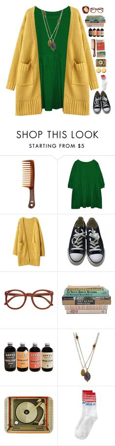 """""""At the Library"""" by spottdrossel ❤ liked on Polyvore featuring Goody, Converse, Lucky Brand and Ella Doran"""