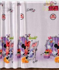 GBP - Kids Printed Voile Net Curtain-Ready Made-Disney Minnie Mouse 1 & Garden Net Curtains, Curtains With Blinds, Curtains Ready Made, Kids Prints, Minnie Mouse, Daisy, Printed, Ebay