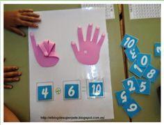 Tutorial para construir las manos de goma eva + fichas y actividades para trabajar los números