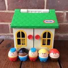Vintage Little Tikes Toddle Tots 0680 Family House Play Set 5 Chunky People 1986 | eBay