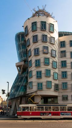 Frank Gehry building in Prague, Czech Republic