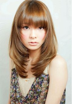 Feather Cut With Front Bangs