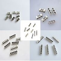 10 pcs de Prata Antigo Beads Slider Separador Encantos Espaçadores Para 3mm Rodada Cordão de Couro Pulseiras & Bangles Jóias Acessórios