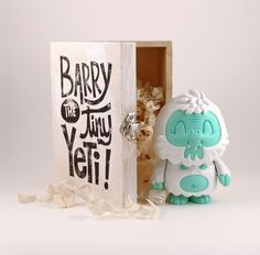 Barry the tiny Yeti - A collaboration between Tougui & muffinman Resin figurine - limited edition of 50 pcs