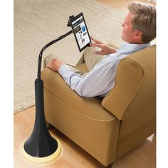 The iPad Charging Floor Stand - Hammacher Schlemmer