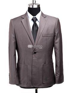 Mahogany Front Button Stripe Pattern Cotton Blend Mens Suit. See More Mens Business Suits at http://www.ourgreatshop.com/Men-039-s-Business-Suits-C785.aspx