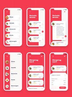 Ideas For Design App Calendar Android Iphone App Design, Android App Design, Ios App Design, Mobile App Design, Interface Design, Layout Design, Restaurant App, Mobile Application Design, App Design Inspiration