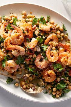 Baked Tomato Recipes, Tomato Tart Recipe, Fish Recipes, Seafood Recipes, New Recipes, Dinner Recipes, Nytimes Recipes, Seafood Dishes, Spicy Shrimp