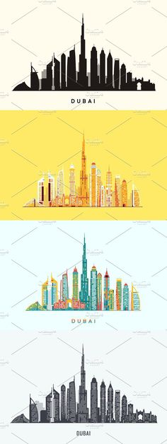 Dubai abstract skyline Dubai, Converse Design, Fashion Flats, Travel Pictures, Journaling, Skyline, Wallpapers, Watercolor, Abstract