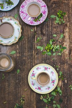 We adore these sweet tea sets!