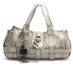 Chloe Grey Leather Kerala Equipped Bag #Chloe #ShoulderBag