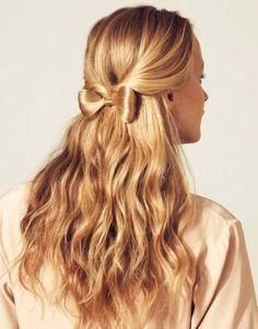 Pretty Hair, Hair Bow, That Pretty Dress Shop Valentine's Day Hairstyles, Pretty Hairstyles, Wedding Hairstyles, Hairstyle Ideas, Updo Hairstyle, Celebrity Hairstyles, Christmas Hairstyles, Braid Hair, Creative Hairstyles