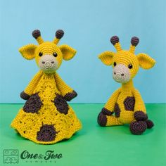 Geri the Giraffe Lovey and Amigurumi Crochet Patterns by One and Two Company