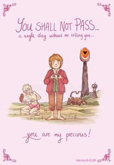 The Hobbit Valentine's Day card