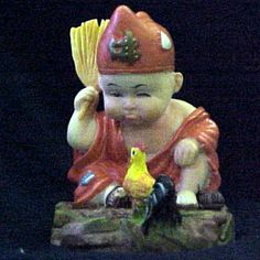 Buddha Boy Conversing with His Rooster  $12.99