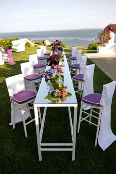 Malibu Wedding with Mindy Weiss / Purple and White