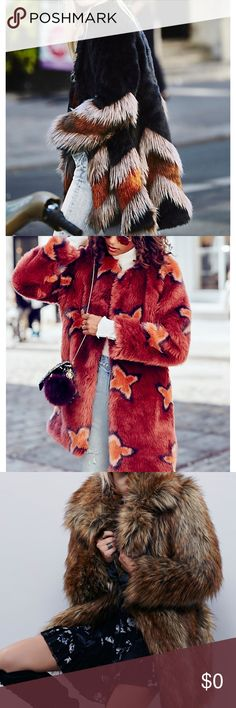 ISO list Would love to trade for one of these of have someone sell to me for a decent price! 1.Chevron Fur Coat 2. Wrap Me Up Faux Fur Jacket 3. Shaggy Faux Fur Fox Coat 4. Free People Other