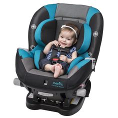 The EvenfloPlatinum Triumph LX Convertible Car Seat Featuring OUTLASTR Performance Fabric To Help