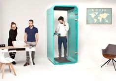 Budki telefoniczne w biurze od iminbooth www.budkitelefoniczne.pl #budki #telefoniczne #imin #booth