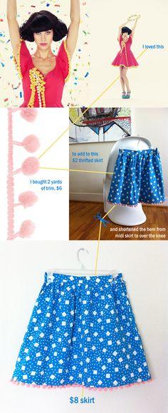 popm pom / flouncey skirt DIY