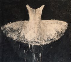 Available for sale from Galleria Ca' d'Oro, Ewa Bathelier, Little White Tutu Two (2014), Acrylic on Fabric, 200 × 223.5 cm