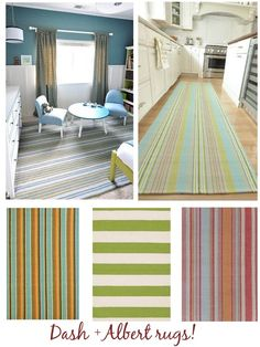 great ideas for Dash & Albert rugs - can be found at:  https://www.facebook.com/pages/The-Design-Cottage/160366927352732