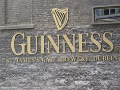 Historic Guiness St. James Gate Brewery Lettering