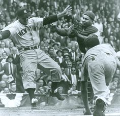 Moose Skowron (Yankees) and Roy Campanella (Dodgers)