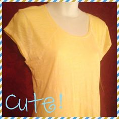 """""""They Call Me Mellow Yellow """" soft, sunny tee NWT perfect lil tee for hot fun in the summer sun. Cool and soft 100% cotton. Great color for the season. Grab it while it's HOT, honey! Price tag removed but has label tags. DKNY JEANS Tops"""