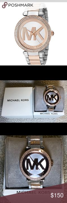New Ladies Michael Kors Rose Gold/Steel Watch Check out this gorgeous ladies watch by Michael Kors! Brand new, still wrapped in protective plastic. This item is model number MK6314.   Who wants to make an offer on this beauty? Michael Kors Accessories Watches