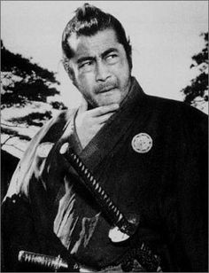 Toshiro Mifune (1920 - 1997) Japanese actor who appeared in almost 170 feature films. He is best known for his 16-film collaboration with filmmaker Akira Kurosawa, from 1948 to 1965, in works such as Rashomon, Seven Samurai, Throne of Blood, and Yojimbo. He is also popular for portraying Musashi Miyamoto in Hiroshi Inagaki's Samurai Trilogy. Mifune was awarded the Medal of Honor with Purple Ribbon in 1986 and the Order of the Sacred Treasure by the Japanese government in 1993.