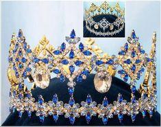 Byzantine Style full Regency Blue Sapphire Crown - Crown Designers - Rhinestone Crowns, Tiaras & Scepters