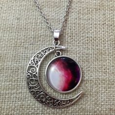 ANY 3 FOR $12New Glass Moon Chain Necklace. New cute Moon silver chain glass necklace. Has the Moon a glass dome. Cute moon shape necklace.  Fast shipping. Bundle more and save. Thank you. Moon Jewelry Necklaces