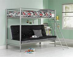 Buy Metal Bunk Bed Frame with Futon - Silver and Black at Argos.co.uk, visit Argos.co.uk to shop online for Children's beds, Children's beds, Children's beds