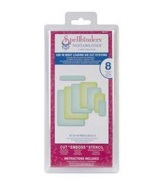 Spellbinders Nestabilities A2 Card Creator Dies-Curved Matting Basics ASpellbinders Nestabilities A2 Card Creator Dies-Curved Matting Basics A,
