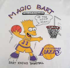 Bootleg Bart Lakers T-Shirt Lakers T Shirt 570d1c024