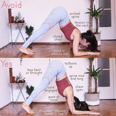 Little tutorial for you all on dolphin pose :) bend your knees if you need to, and if your heels don't touch the floor yet, it's not a…