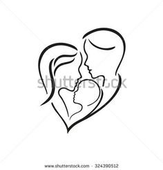 stock-vector-woman-manand-their-child-vector-symbol-in-simple-lines-324390512.jpg (450×470)