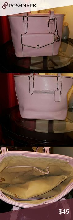 DASEIN LARGE TOTE Pink with gold trim outside pocket  three inside compartments very roomy Bags Totes