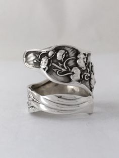 Size 8.5 Vintage Sterling Silver Lily of the by NotSoFlatware