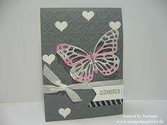 Stampin Up - Geburtstagskarte - Birthday Card - Grusskarte - Hochzeitskarte - Wedding Card - Butterflies Thinlits ♥ StempelnmitLiebe